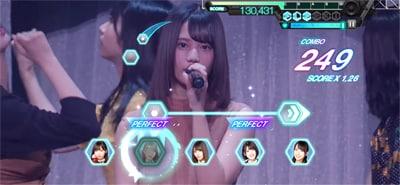 ゲーム内「日向坂46 3rdシングル発売記念ワンマンライブ」より「こんなに好きになっちゃっていいの?」のワンシーン。