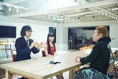 左から松永天馬(Vo)、浜崎容子(Vo)、吉田豪。