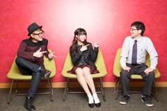 左から松隈ケンタ、志田友美、connie。