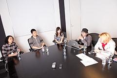 左から斉藤迅、文原明臣、大河内加代子、松尾謙二郎、米塚尚史。