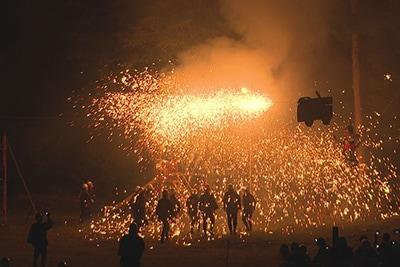 長野県阿智村での花火の様子。