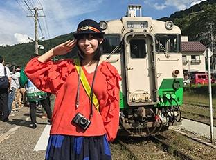 「中川家礼二と行く!鉄道ファン憧れの只見線体験ツアー」の様子。
