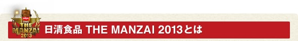 日清食品 THE MANZAI 2013とは