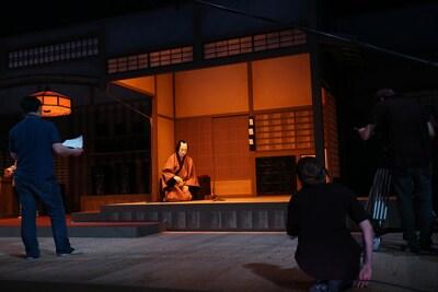 シネマ歌舞伎「女殺油地獄」メイキングの様子。