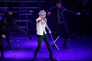 「『ヒプノシスマイク-Division Rap Battle-』Rule the Stage -track.1-」より、阿部顕嵐演じる碧棺左馬刻。