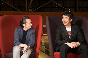 左から長島確、松田正隆。