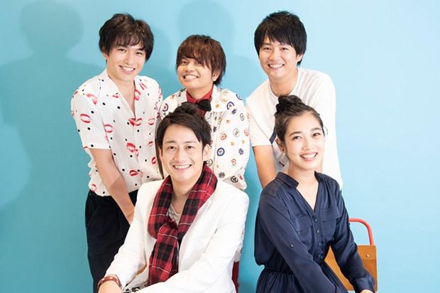 前列左から南翔太、林田岬優。後列左から橋谷拓玖、松浦正太郎、吉木遼。
