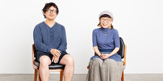 左から岡田利規、徳永京子。