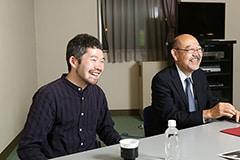 左から菅原直樹、渡辺弘氏。
