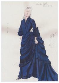 前田文子が手がけた「リチャード三世」衣裳原画。