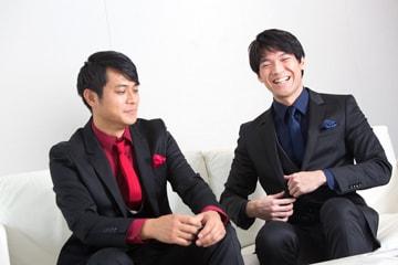 左から田中俊太郎、大田翔。
