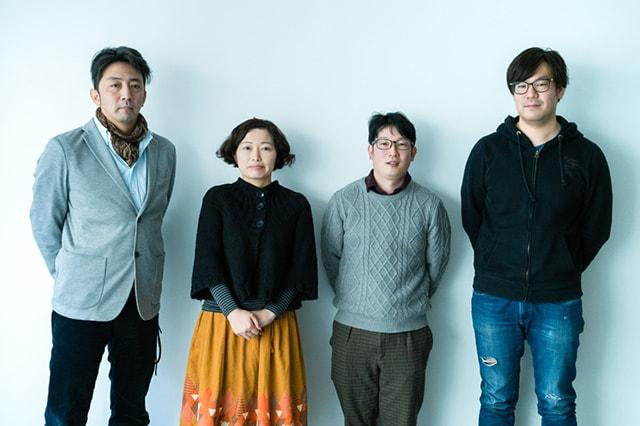 左から松本大介、小野塚央、竹井祐樹、佐藤こうじ。